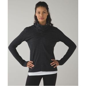 Lululemon In A Cinch Long Grey Mockneck Sweater